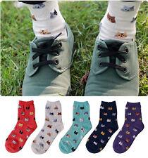 Fashion Women Girl Lovely Cute Cat Socks Animal Cartoon Cotton Socks 5 Colors