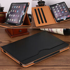 Luxury Leather Folio Stand Wallet Smart Cover Case for Apple iPad Pro 9.7 Black