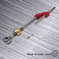 93-97 DEL SOL 88-91 CRX CIVIC STAINLESS STEEL BRASS ADJUST SHORT SHIFTER RED