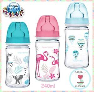 EasyStart Anti-colic Wide Neck Bottle 240ml  Canpol babies  Different Designs