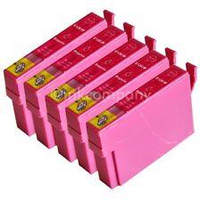 5 kompatible Tintenpatronen rot für den Drucker Epson SX235W S22 SX230
