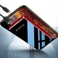 Batería Externa 20000mAh Cargador Portátil Móvil Power Bank Ultra Slim