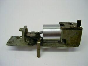 Rebuilt smoke in tender unit converted to piston.