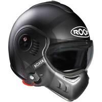 Roof Boxer V8 Bond Titanium / Black Motorbike Convertible Helmet | All Sizes