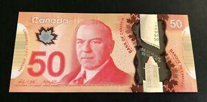 Canada 🇨🇦 2012, UNC Polymer Banknote $50 Dollars - GEM UNC