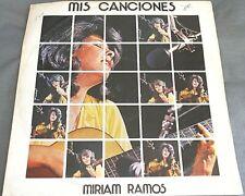 MIRIAM RAMOS -MIS CANCIONES- CUBAN LP WOC TROVA / CANTO NUEVO