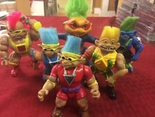 "Lot of 6 Vintage Ace Novelty Stone Protectors Troll Doll 5"" Action Figures 1992"