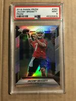 2016 JACOBY BRISSETT PANINI PRIZM ROOKIE RC PSA 9 MINT #292 COLTS SILVER