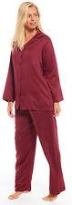 Ladies Satin Pyjamas Collared Full Length Floral Plain PJ Buttoned PLUS SIZE TOO