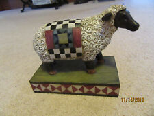 Tii Collections - Resin Barnyard Animal (Sheep w/quilt pattern)