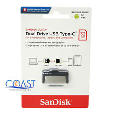 Sandisk Ultra Dual Drive USB Type C 32GB Memory For Computer and Mobile Devices