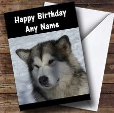 Alaskan Malamute Dog Personalised Birthday Greetings Card