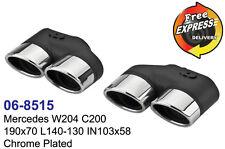 Auspuff Endrohre doppelt fur Mercedes Benz W204 C200 Edelstahl verchromt