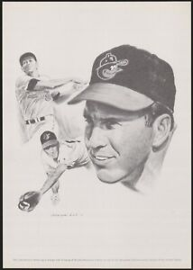 Brooks Robinson 1970s Equitable Assurance 8x11 Poster Print George Loh Lot