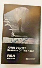 SIGNED AUTOGRAPHED JOHN DENVER Cassette Seasons of the Heart