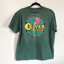 Vintage 90s Oliver Breweries Baltimore MD Green Single Stitch Tee Shirt Sz Large