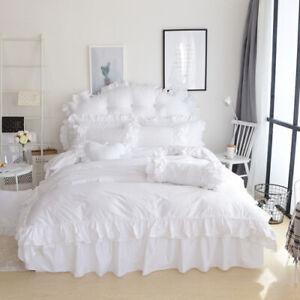 2021 Princess Queen Queen Bedding Set Bed Skirt Set Duvet/Duvet Cover 3/4Pcs