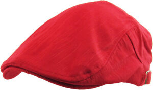 Cotton Classic Newsboy Ivy Gatsby Cap Mens Denim Hat Golf Driving Summer Cabbie