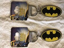 Batman Key Chain Key Ring DC Comics Raised Logo Heavy Key Ring Style Metal Set 2