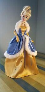 "Walt Disney Dolls ~ Porcelain Cinderella with Stand 16"""