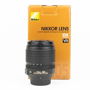 Nikon AF-S 18-105mm F3.5-5.6 ED VR Lens - Boxed - VGC