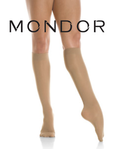 Mondor Semi-Opaque Adult Knee High Figure Skating Socks Tights (82) SUNTAN