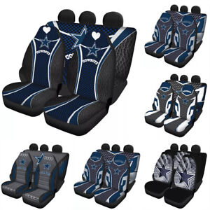 Dallas Cowboys Car Seat Cover Universal Fit Auto Cushion Protector 5 Seats Gifts