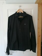 Men's Slim Fit Black Shirt Size L