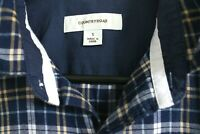 Country Road - Blue Check - Button Down Collar Long Sleeve Shirt - Mens - Size S