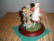 Norman Rockwell No Swimming Figurine Vintage numbered # 737/4500