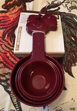 Paula Deen Red Rooster Signature Collection Pantryware 4 PC Measuring Cup Set