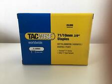 """BRANDnew TACWISE 71/10mm 3/8"""" Galvanised Staples Box of 20,000 Upholstery Crafts"""