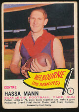 1966 Scanlens No. 1 Hassa Mann Melbourne Demons Card ****