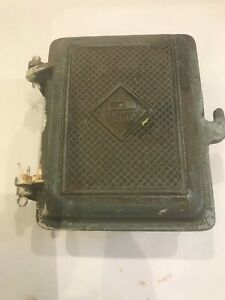 Vintage Prento Fuse Box Switch Cast Iron, Steampunk Frankenstein  Keysafe