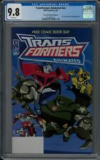 TRANSFORMERS ANIMATED #NN CGC 9.8 (5/08) IDW FCBD white pages