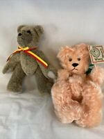 2 - Sally Winey Plush Bears 🐻- Retired - Hand Made With Signatures MOHAIR