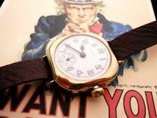 Elgin 15 jewel YGF Trench Watch WW1, circa 1918, very original, warranty nice!