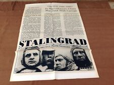 1993 Stalingrad Original Movie House Full Sheet Poster