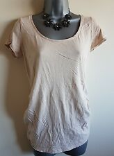 Size 12 Maternity Top NEW LOOK Pale Peach Casual Women's Great Condition