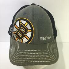 NHL Boston Bruins Reebok Center Ice L/XL Fitted Cap Hat