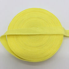 """5yds 3/8"""" Yellow Fold Over Multirole Elastic Spandex Band DIY Lace Sewing Trim"""
