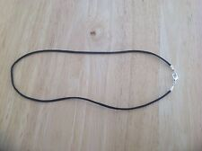 "10 Necklace Cords BLACK Satin for Pendants 18"" silver plated handmade"