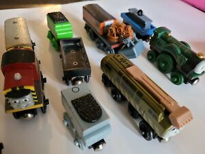 Lot of 12 Thomas the Train & Friends All Wooden Trains Cars Tenders Mixed Lot