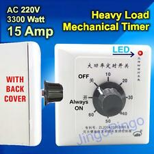 15A Mechanical Timer Switch 220V AC DC Durable Automatic Delay Relay Water Pump