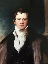 Portrait of Humphry Davy by T Lawrence - photo of original oil painting on board