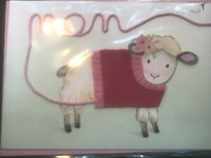 Papyrus Mother's Day card -Lamb Sheep Knitted Wool Sweater- you make life cozy