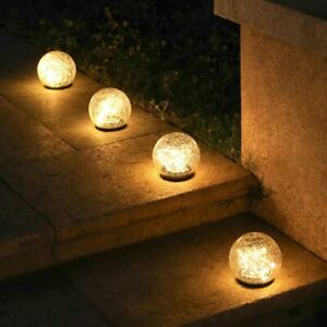 Led Solar Light Glass Global Lawn Garden Courtyard Outdoor Waterproof Lamp Decor