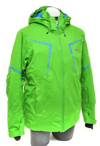 Helly Hansen Fitted Professional Ski Jacket Men LARGE Green RECCO Backcountry
