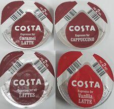 48x Tassimo Costa Espresso for Latte, Caramel, Vanilla, Cappuccino T-Discs LOOSE