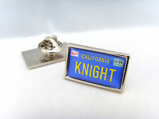KNIGHT RIDER KITT CAR NUMBER PLATE LAPEL PIN BADGE TIE PIN GIFT